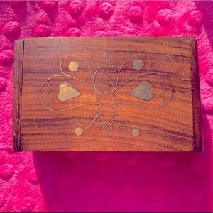 Vintage butterfly wooden jewelry box